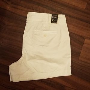 "NWT J. Crew 4"" Stretch Chino Short in White"